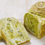 抹茶とホワイトチョコのマーブル食パン